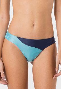 Bicolor navy/blue fixed bikini bottom - BOTTOM RECORTE SOLIDS