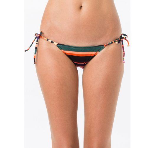 Side-tie Brazilian bikini bottom in colorful stripes - BOTTOM TRIANGULO FLASH