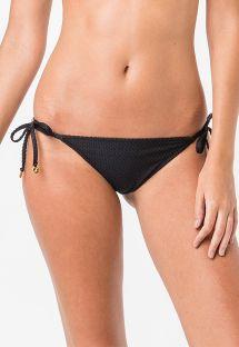Schwarze texturierte Scrunch-Bikinihose - BOTTOM TRIANGULO LISO CLOQUE PRETO