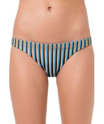 Fixed Brazilian bikini bottom blue stripes - BOTTOM UNICA GAROUPA