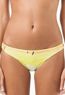 Low-rise bikini bottom in tropical colours - CALCINHA ALABAMA