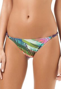 Printed swimsuit tanga with adjustable sides - CALCINHA ARIEL