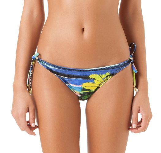 Braguita de bikini brasileño con estampado tropical de atar - CALCINHA ASSIS