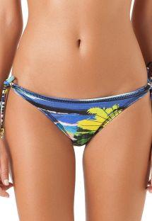 Bikinihose mit Tropenprint und Seitenschnüren - CALCINHA ASSIS