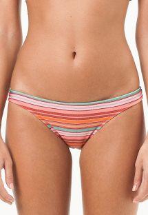 Fastsiddende tanga bikinitrusse med farvestrålende striber - CALCINHA BALTIMORE