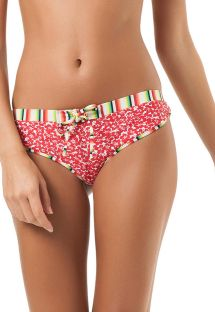 Retro mixed print Brazilian bikini bottom - CALCINHA CAROLINA DO SUL