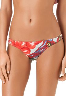 Red floral Brazilian bikini bottom - CALCINHA DAKOTA DO NORTE