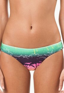 Tanga con estampado tropical de colores estilo surf - CALCINHA FLORIDA