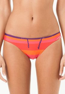 Low-rise fixed bikini bottom, orange-red - CALCINHA LAGOINHA