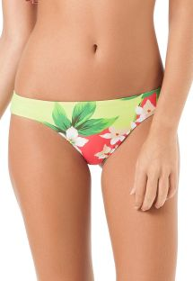 Floral swimsuit tanga, sport style - CALCINHA LESLIE BABADO