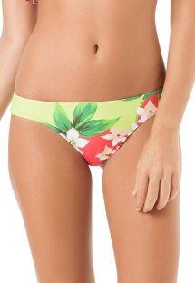 Floral swimsuit tanga, sport style - CALCINHA LESLIE BABADO