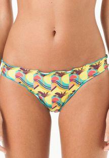 Braguita de bikini tipo scrunch con estampado tropical lúdico - CALCINHA MARINGA