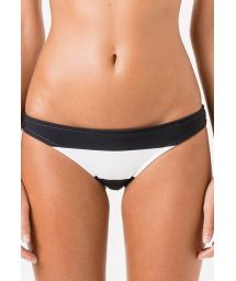 Fixed swimsuit tanga with wide black/white stripes - CALCINHA MELISSA