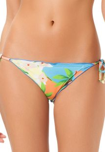 Pastel floral scrunch Brazilian bikini bottom - CALCINHA PACAEMBU