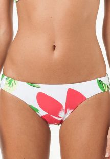 Low-rise fixed floral swimsuit bottom - CALCINHA PARAISO