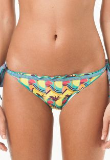 Fun tropical swimsuit tanga, wavy edges - CALCINHA PENSILVANIA