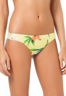 Blomstret brasiliansk bikinitrusse i sportsstil - CALCINHA PIRACICABA