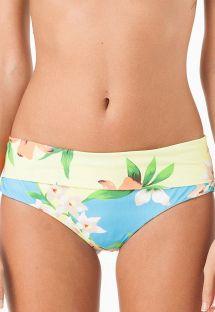Geblümte Bikinihose mit breiten Seiten - CALCINHA RIO DAS PEDRAS