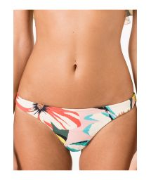 Non-adjustable Brazilian bottoms with naive pastel print - CALCINHA RIVIERA MAYA