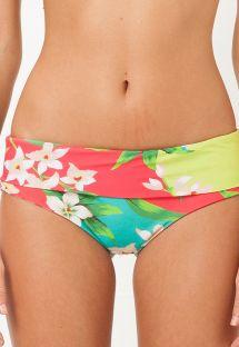 Braguita de bikini con estampado floral y anchos lados - CALCINHA SALTO