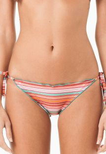 Striped scrunch bikini bottom, wavy edges - CALCINHA SAO FRANCISCO