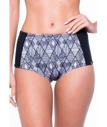 High-waisted ethnic/black swimsuit bottom - CALCINHA YAS AFRICA