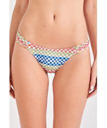 Colorful geometric scrunch bikini bottom - BOTTOM BONECA COLORS