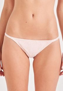 Nude spotted fixed scrunch bikini bottom - BOTTOM CLÁSSICO ROSE