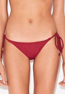Dunkelrote Bikinihose mit Seitenschnüren - BOTTOM CORTININHA VERMELHO