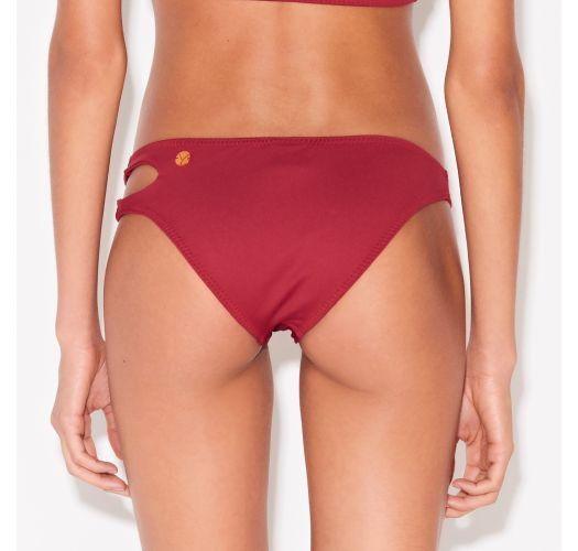 Dunkelrote originelle Brazilian Bikinihose - BOTTOM CROP VERMELHO