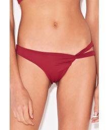Mörkröd asymmetrisk brasiliansk bikininederdel - BOTTOM CROP VERMELHO