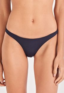 Black fixed scrunch bikini bottom - BOTTOM ELEGÂNCIA PRETO
