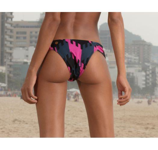 Feste geometrisch gemusterte Luxus-Bikinihose - BOTTOM GEOMETRIC NEON
