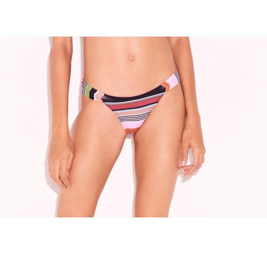 Buntgestreifter Luxus-Scrunch-Bikinihose - BOTTOM LISTRAS KITTY