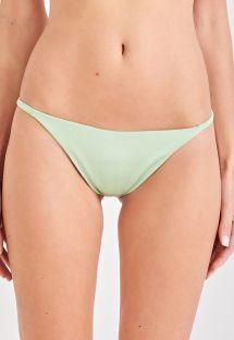 Light green bikini bottom slim sides - BOTTOM LISTROS VERDE
