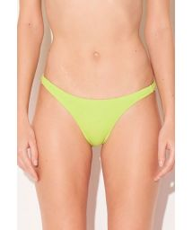 Feste Scrunch-Bikinihose in Neongelb - BOTTOM NEON LIME