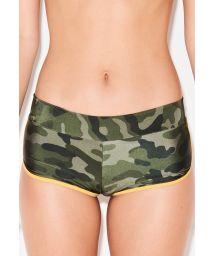 Shorty bikini bottom in camo print - BOTTOM SHORTY CAMOUFLAGE