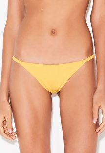 Yellow Brazilian bikini bottom with slim sides - BOTTOM TIRINHA FRIDA
