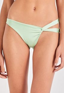 Asymmetric light green bikini bottom - BOTTOM TORCIDO VERDE