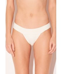 Luxury cream Brazilian fixed bikini bottom - BOTTOM TRIANGULO OFF WHITE