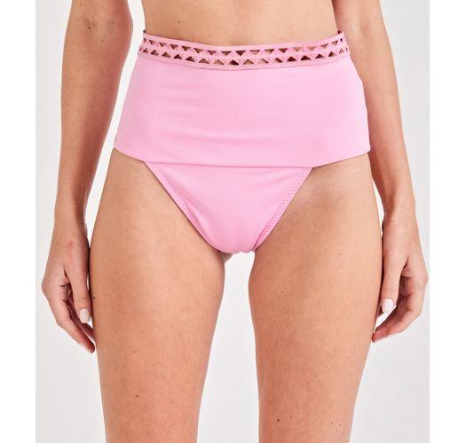 3f8378b3ce Purple pink high-waisted bikini bottom with openwork - BOTTOM VINTAGE LILAS
