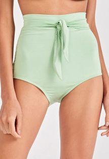 Light green high-waisted bikini bottom - BOTTOM VINTAGE VERDE