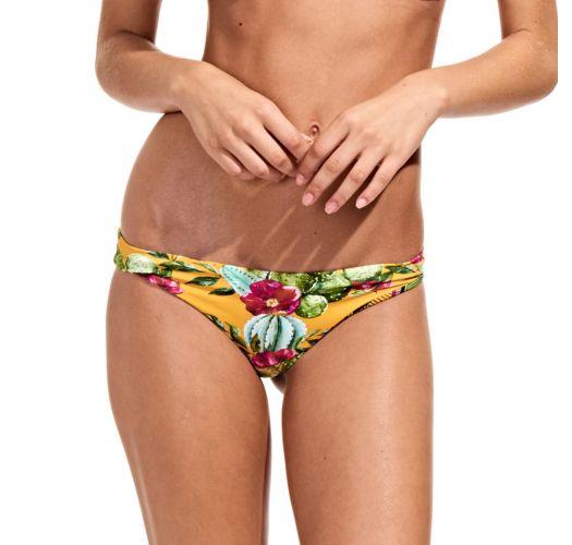Reversible retro Brazilian bikini bottom - CALCINHA CACTUS SOL
