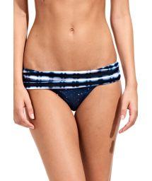 Starry night bikini bottom with tie dye waistband - CALCINHA TIE DYE BLUE