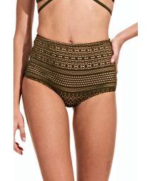 Low cut high waist khaki bottom - CALCINHA VERDE MILITAR