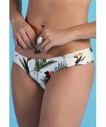 Tropical white fixed bikini bottom - BOTTOM BOMBOM ESTAMPADA