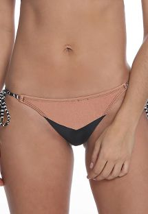 Bikinihose, schwarz/nude, Schnüre zweifarbig - BOTTOM RECORTE TRIANGULAR