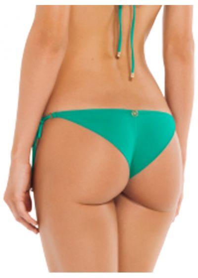 Accessorized luxurious green bikini bottom - BOTTOM LUCY EMERALD