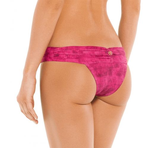 BOTTOM PLEATS BANDEAU FUCSIA
