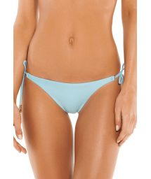 Accessorized luxurious pale blue bikini bottom - BOTTOM SHAYE TRI MALDIVES